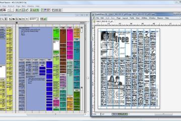 InDesign or QuarkXPress page layout